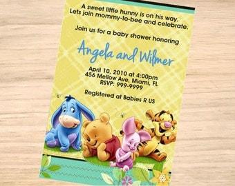 Winnie The Pooh Baby Shower Invitation   Winnie The Pooh Baby Shower