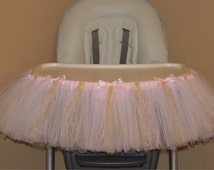 Shabby Chic Sparkle and Shine Pink and Gold or Pink and Silver Twinkle, Twinkle Little Star High Chair Tutu 1st Birthday party