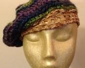 Women's Handmade Crochet Multi-Colored Hat