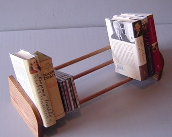 "23"" Oak Tabletop Book Shelf / CD Rack"