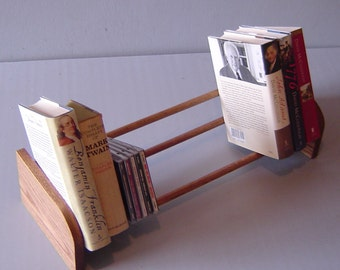 Perfect Wooden Book Shelf. Tabletop Book Holder. Rustic Book Shelf.