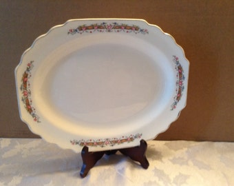 Vintage W. S. George Platter Lido White Made in USA 1930's