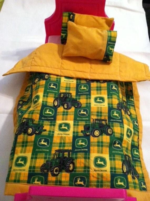Jd Handmade Creations: Handmade John Deere Doll Quilt For American Girl Or Other