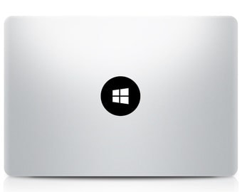 Windows Logo Macbook Decal, Windows PC Macbook Sticker, Macbook Pro Air Decals, Mac Decals, Laptop Decals, Vinyl Apple Decal, Die Cut Decals