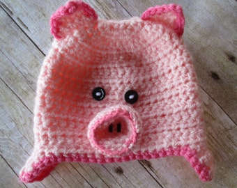This Little PIggy Hat, crochet hat - 7 sizes available