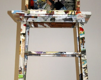 Stand, side table with attachment