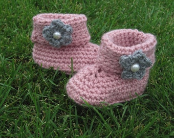 Toddler Booties or Slippers with Non-Slip Grip on Bottom