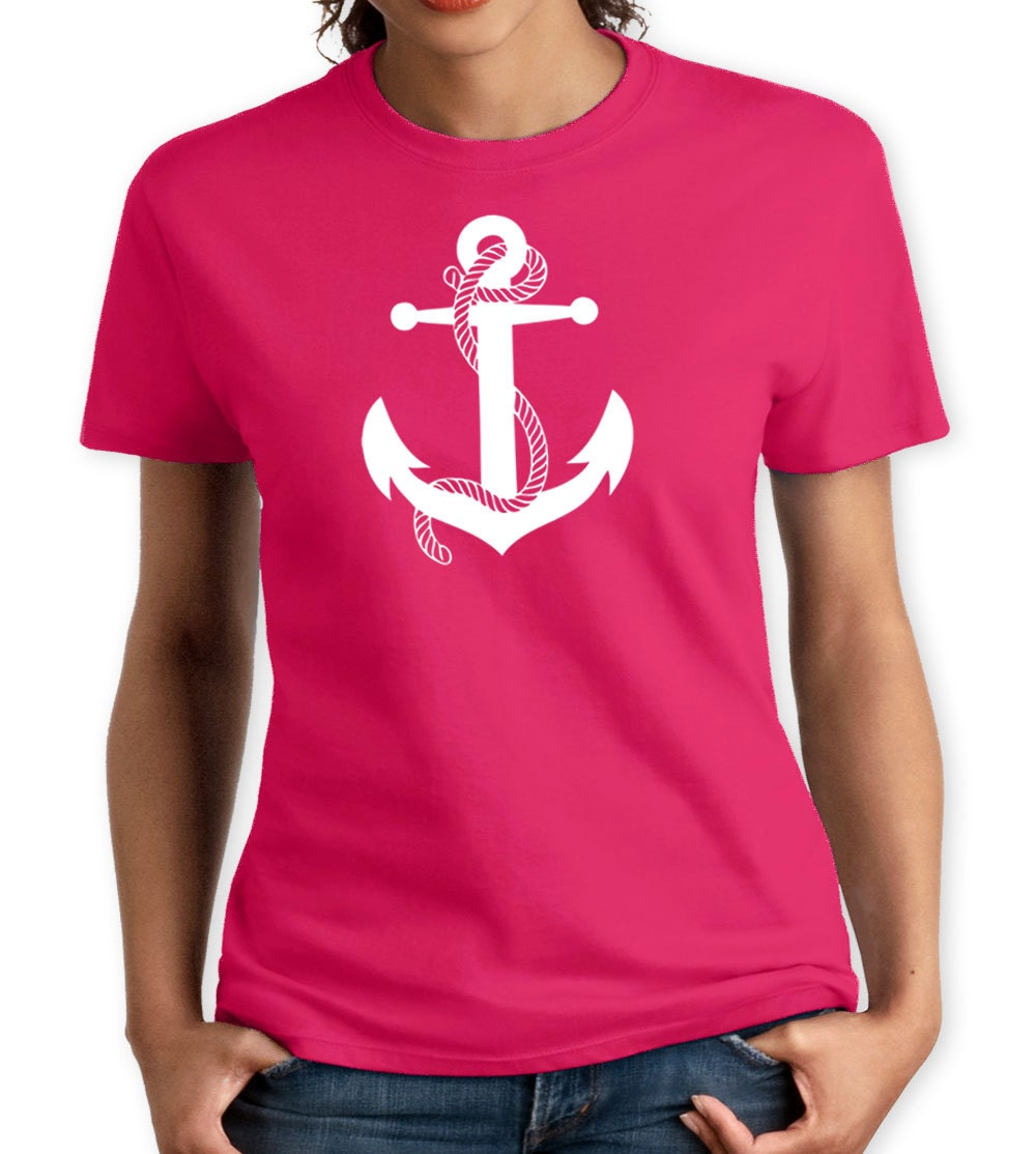 Anchor women t shirt hand screen printed tee great quality for Screen print on t shirts
