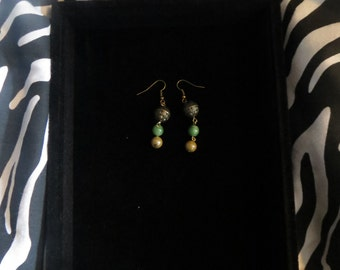 Handmade dangle earrings.