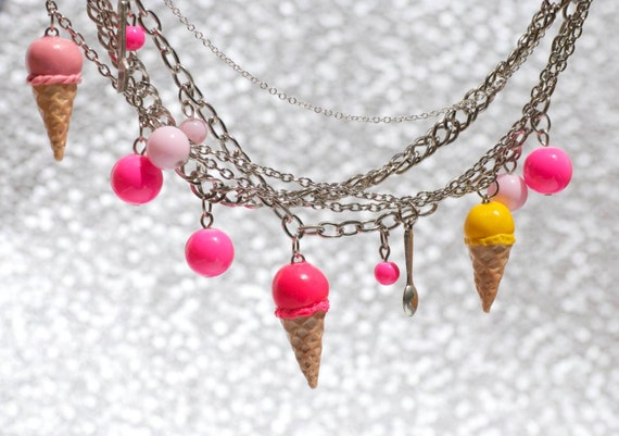 Multi Chains & Ice Creams Necklace. Jewel Necklace. Pinterest Wedding Rings. Ring Gemstone. Pandora Anklet. Broken Wedding Rings. Swatch Watches. Wholesale Jewelry. Music Wedding Rings