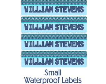 Modern Chevron Daycare Name Labels, Kids School Labels, Personalized Name Labels -Weatherproof Labels Small, Camp Name Labels