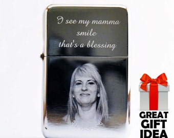 Photo & Text Personalized Engraved Star Windproof Lighter Quality Gift