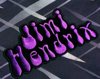 "Purple Haze ''Jimi Hendrix"" Embroidered Iron -On Patch"
