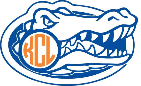 Florida Gator Stickers : Florida gators monogram sticker custom vinyl decal