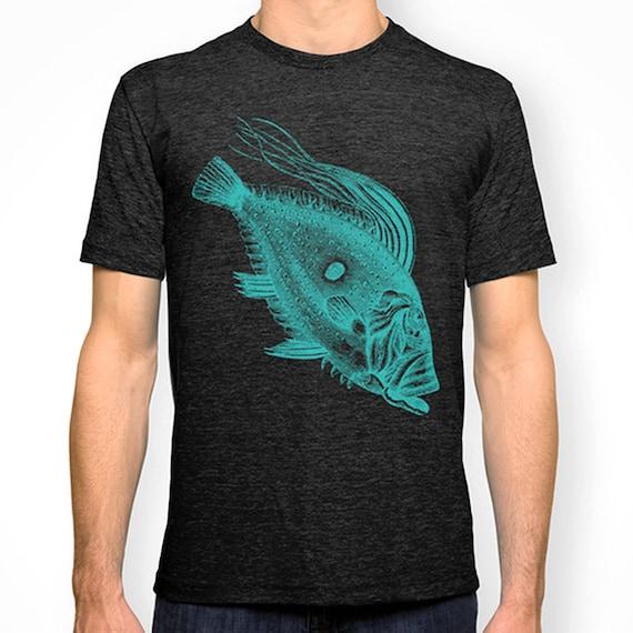 Big fish tshirt nautical t shirt screen print tee by for Big fish screen printing