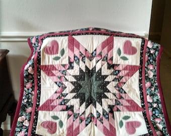 Vintage star design quilt