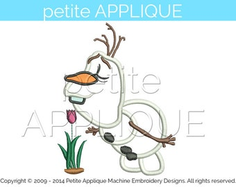 cute olaf   Applique Design for Embroidery Machines Instant Download - 2 sizes