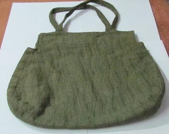 1930s Hand sewn fabric handbag
