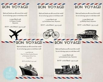 Bon Voyage Invitation