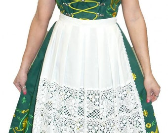 3-Piece Long Green German Dirndl Dress 0 2 4 6 8 10 12 14 16 18 20 22 24 XS S M L XL 2XL