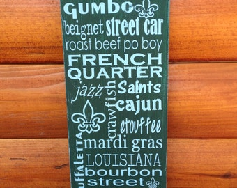 SALE Distressed Wooden City Sign- New Orleans