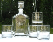 Whiskey Decanter - Personalized Engraved Whiskey Decanter - Glass Whisky Decanter