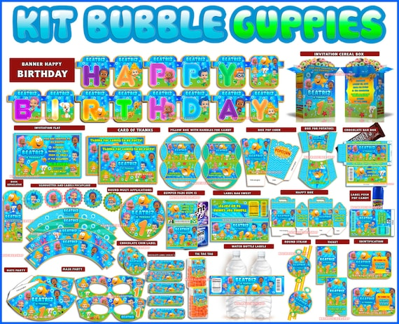 Bubble Guppies Birthday Party Printables Kit By Allprintable2