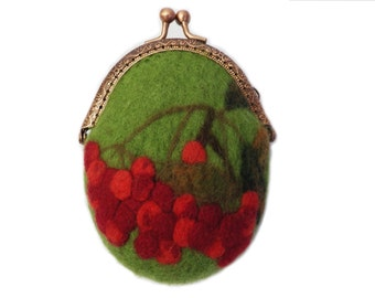 Rowan hand felted purse,  Merino wool felt purse