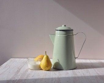 Mint green French Tea pot