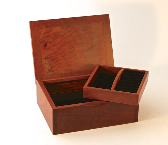 Decorative Wooden Boxes Australia : Wooden jewellery box australian rare myrtle burl hand made