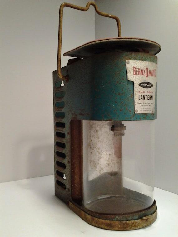 Vintage Bernzomatic Lantern Model Tx 750 Dual Beam Propane