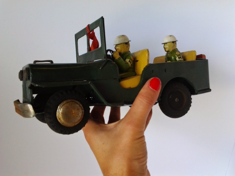 Types Of Jeeps >> Vintage Japan Tin Friction Jeep Toy Marx Antique Tin Yonezawa