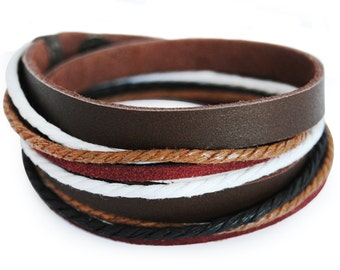 axy wrap bracelet TWIC6-5!  Leather Bracelet