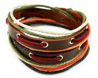 axy wrap bracelet TWIC11-3!  Leather Bracelet