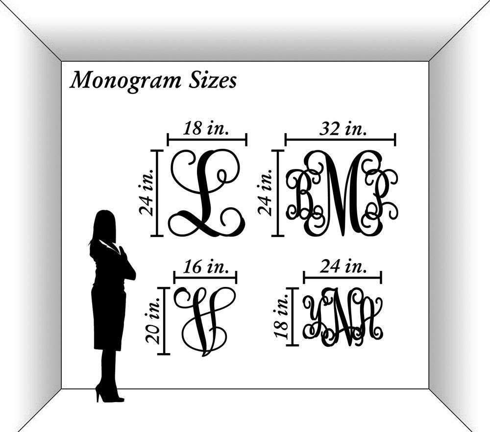 Wooden monogram unpainted vine script monogram home decor for Monogram homes