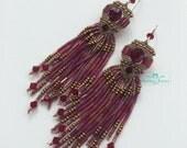 """Micro Macrame """" Nouveau Goddess  """" Ear Rings"""