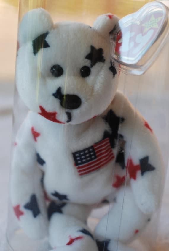 TY Beanie Baby Glory Bear Retired Beanie Baby by StepsToTheAttic