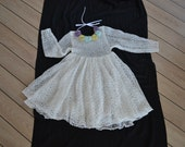Dress knitted from lithuanian linen