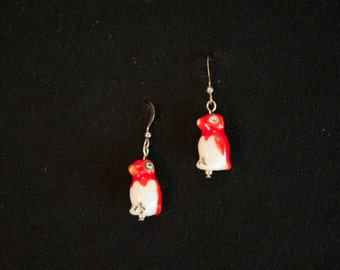 Parrot Earrings (Silver or Gold)