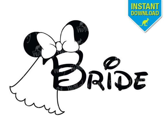 disney wedding bride minnie ears printable iron on transfer or Large Mickey Mouse Head Silhouette Clip Art Mickey Mouse Traceable Head