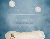 "Beautiful & ""JOY""ful  Digital Christmas background for newborn baby / kid."