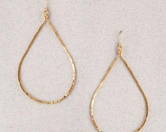 Over-sized Teardrop Hoop Earrings