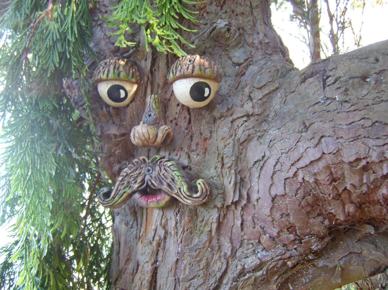 Tree Face Garden Ornament Sculptures Statues Tree