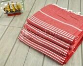 FREE & EXPRESS SHIPPING Picnic Table Cloth Set of 4 Traditional Towel Turkish Fouta Flour Sack Towel Turkey Towel Bath Towel Peshtemal Body