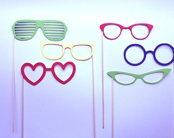 Glasses photobooth props package