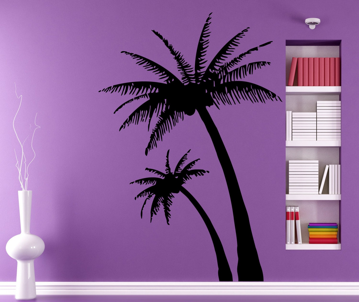 Palms wall decals beach palm tree home decor by for Palm tree decorations for the home
