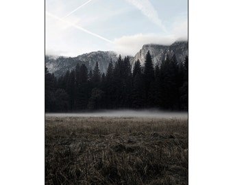 The Meadow , Yosemite, Wall Art, Nature, Landscape, Travel, Nature Photography, Meadow, Yosemite Falls, Mist