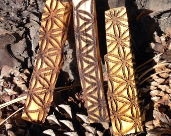Flower of life engraved onto Palo Santo Sticks (Set of 3)