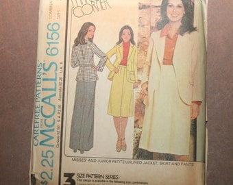 Vintage McCall's Marlo's Corner Jacket, Skirt & Pants Pattern 6156 - Sizes 12+14+16 - FREE US SHIPPING
