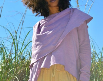 The Super Cowl Top in organic hemp jersey. Made to order.